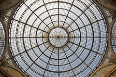 Milan - glass cupola of Vittorio Emanuele galleria Stock Image