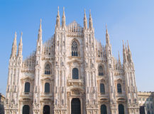 Milan gothic catholic cathedral Royalty Free Stock Image
