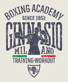 Milan gymnasium boxing academy Stock Photo