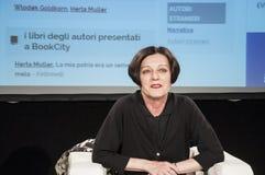 Milan Herta Muller till bookcityen royaltyfria foton