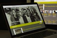 Milan, Italie - 10 août 2017 : Homepag résident de site Web de conseiller Image libre de droits