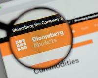 Milan, Italie - 10 août 2017 : Logo de Bloomberg sur le site Web h images libres de droits
