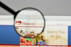 Milan, Italie - 10 août 2017 : Logo de nourritures de fleurs sur le websit Photos libres de droits