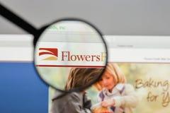 Milan, Italie - 10 août 2017 : Logo de nourritures de fleurs sur le websit Photographie stock libre de droits