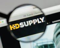 Milan, Italie - 10 août 2017 : Logo de participations d'approvisionnement de HD sur W Image stock