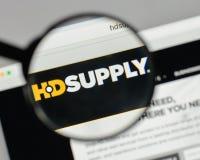 Milan, Italie - 10 août 2017 : Logo de participations d'approvisionnement de HD sur W Photos stock