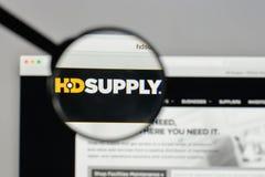 Milan, Italie - 10 août 2017 : Logo de participations d'approvisionnement de HD sur W Photographie stock libre de droits