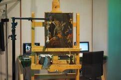 MILAN, Italie - 28 août 2018 : Nouveau travail découvert à côté d'ANdrea Mantegna images libres de droits