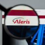 Milan, Italie - 10 août 2017 : Page d'accueil de site Web d'Aleris C'est o Photographie stock libre de droits