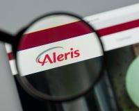 Milan, Italie - 10 août 2017 : Page d'accueil de site Web d'Aleris C'est o Images stock