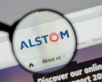 Milan, Italie - 10 août 2017 : Page d'accueil de site Web d'Alstom C'est a Images libres de droits