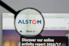 Milan, Italie - 10 août 2017 : Page d'accueil de site Web d'Alstom C'est a Image libre de droits