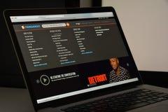 Milan, Italie - 10 août 2017 : Page d'accueil de site Web de Fandango Il est Image libre de droits
