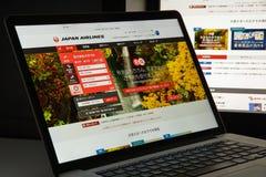 Milan, Italie - 10 août 2017 : Page d'accueil de site Web de JAL Il est Image stock