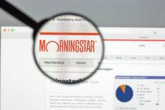 Milan, Italie - 10 août 2017 : Page d'accueil de site Web de Morningstar MOIS image libre de droits