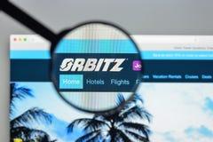 Milan, Italie - 10 août 2017 : Page d'accueil de site Web d'Orbitz C'est a photos stock