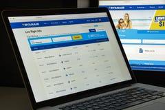 Milan, Italie - 10 août 2017 : Page d'accueil de site Web de Ryanair Il est Photographie stock