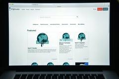 Milan, Italie - 10 août 2017 : Page d'accueil de site Web de Wikileaks Il I Photographie stock