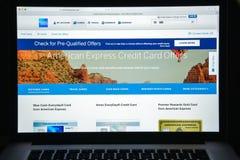 Milan, Italie - 10 août 2017 : Site Web de banque d'American Express ho Images libres de droits