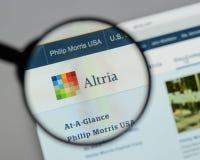 Milan, Italie - 10 août 2017 : Site Web de groupe d'Altria C'est A Image stock