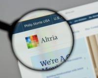 Milan, Italie - 10 août 2017 : Site Web de groupe d'Altria C'est A Photo stock