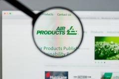 Milan, Italie - 10 août 2017 : Websit d'Air Products & Chemicals photos libres de droits
