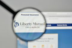 Milan, Italie - 1er novembre 2017 : Liberty Mutual Insurance Group Images libres de droits