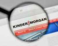 Milan, Italie - 1er novembre 2017 : Logo de Kinder Morgan sur le websi image stock