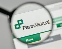 Milan, Italie - 1er novembre 2017 : Logo de Penn Mutual Life Insurance Image stock
