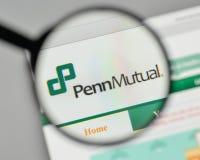 Milan, Italie - 1er novembre 2017 : Logo de Penn Mutual Life Insurance Images libres de droits