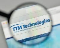 Milan, Italie - 1er novembre 2017 : Logo de technologies de TTM sur nous Photographie stock