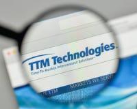 Milan, Italie - 1er novembre 2017 : Logo de technologies de TTM sur nous Photographie stock libre de droits
