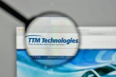 Milan, Italie - 1er novembre 2017 : Logo de technologies de TTM sur nous Photos libres de droits