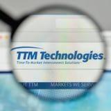 Milan, Italie - 1er novembre 2017 : Logo de technologies de TTM sur nous Image stock
