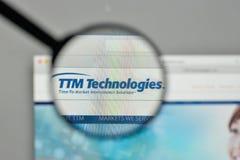 Milan, Italie - 1er novembre 2017 : Logo de technologies de TTM sur nous Photo stock