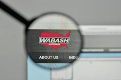 Milan, Italie - 1er novembre 2017 : Logo national de Wabash sur le Web Images libres de droits