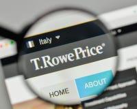 Milan, Italie - 1er novembre 2017 : T Logo des prix de Rowe sur le websi Images libres de droits