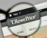 Milan, Italie - 1er novembre 2017 : T Logo des prix de Rowe sur le websi Photo libre de droits