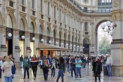 Milan, Italie - galerie Vittorio Emanuele II Photographie stock libre de droits