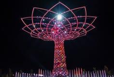 MILAN, ITALIE L'EUROPE - 20 SEPTEMBRE : Arbre de la vie à l'expo dans le mil Photos libres de droits