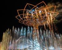 MILAN, ITALIE L'EUROPE - 20 SEPTEMBRE : Arbre de la vie à l'expo dans le mil Photo libre de droits