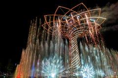 MILAN, ITALIE L'EUROPE - 20 SEPTEMBRE : Arbre de la vie à l'expo dans le mil Photo stock