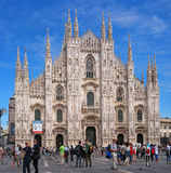 Milan, Italie - 25 mai 2016 : Duomo de cathédrale, la façade principale Images stock