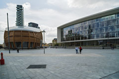 MILAN, ITALIE 13 MAI 2017 : vue panoramique du nouveau futuriste Photographie stock