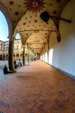 Milan, Italie - 19 octobre 2015 : Peinture de mur intérieur d'un château antique de Castello Sforzesco Sforza de château de forte Photographie stock
