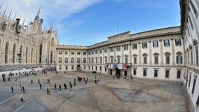 Milan, Italie - place de Duomo - musée de Palazzo Reale Photographie stock