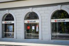 Milan, Italie - 24 septembre 2017 : Banque d'Unicredit à Milan Photo stock