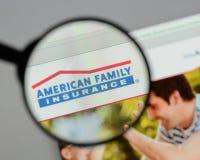Milan Italien - Augusti 10, 2017: Amerikansk familjförsäkringgrupp Arkivbilder