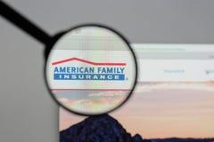 Milan Italien - Augusti 10, 2017: Amerikansk familjförsäkringgrupp Royaltyfri Fotografi