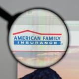 Milan Italien - Augusti 10, 2017: Amerikansk familjförsäkringgrupp Royaltyfria Foton